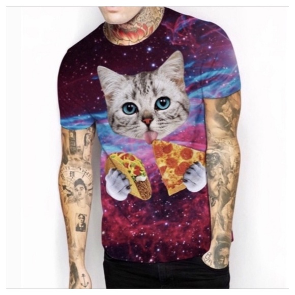 MALeBOX Other - CAT PIZZA T SHIRT